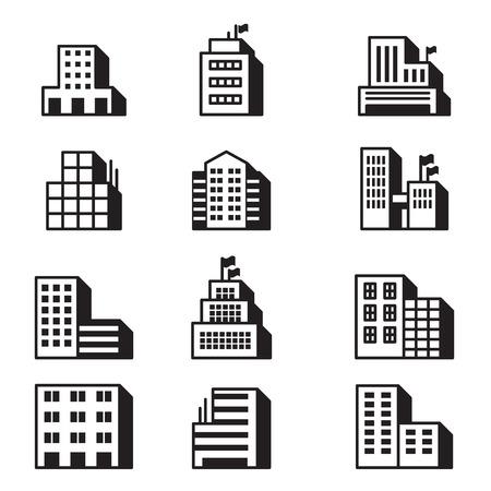 residential zone: Building icons Vector illustration symbol set Illustration