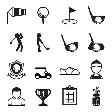 Golf icon set Vectores