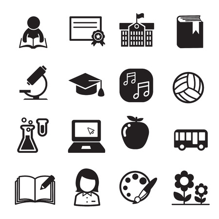 cups silhouette: Basic School icon set