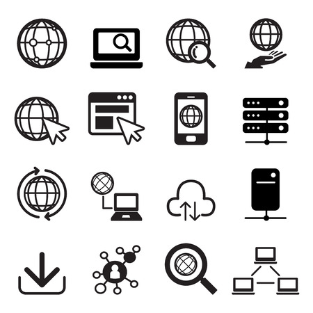Icono de Internet establecidos