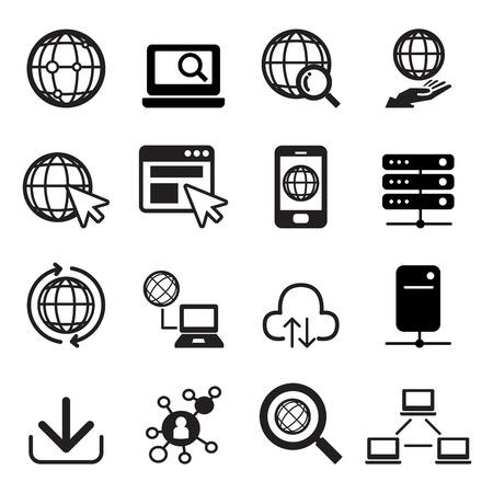 internet icon: Internet icon set