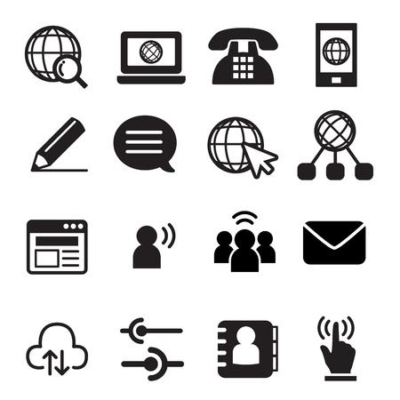 speech buble: Website communication icon