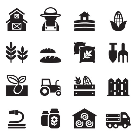 gardening tools: Agriculture and Farming icons set