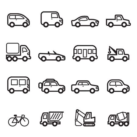 simplify: Car icons  Collection set