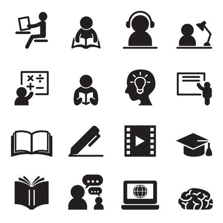 Jeu d'icônes d'apprentissage Vecteurs