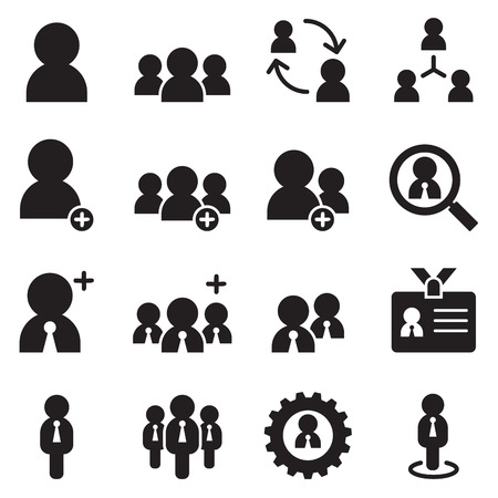 user, businessman , avatar icons set