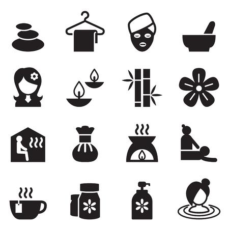 Spa, Beauty, Healthy Massage icons set 2 Vector illustration