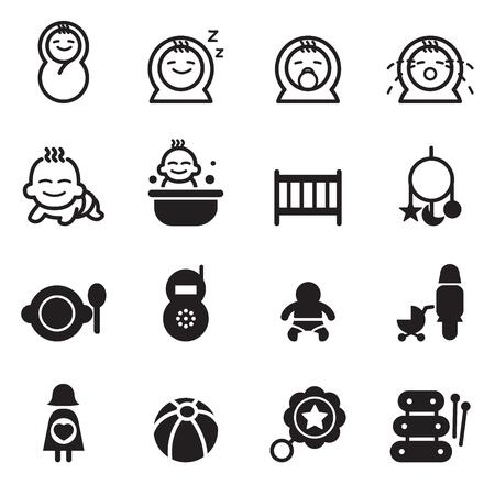 baby cry: Basic Baby icon set