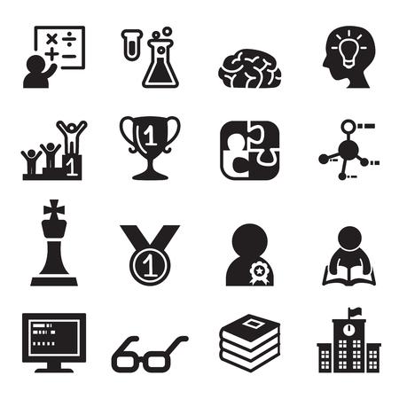 relate: Genius & smart icons set Vector illustration