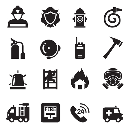 fire department: Fire Department icons  Vector Illustration Illustration