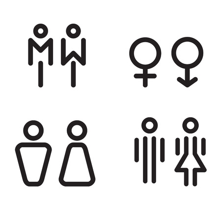 nude male: toilet icon