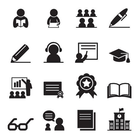 Imparare set di icone Archivio Fotografico - 52043957