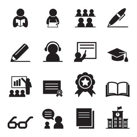 speaking: Learning icon set