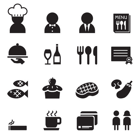 restuarant: Restuarant  Coffee shop icon set Illustration