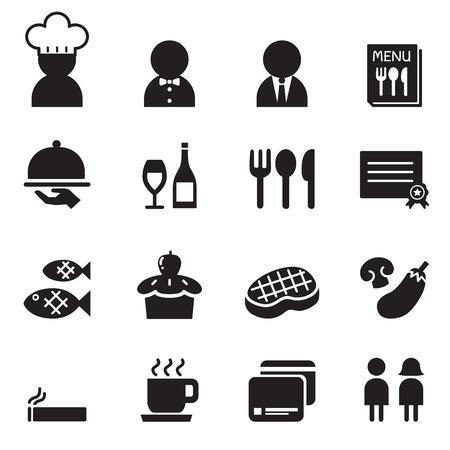 restuarant: Restuarant  Coffee shop icon set Illustration