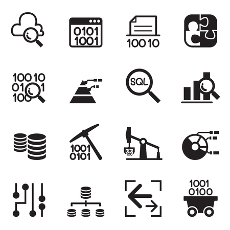 data collection: Data mining Technology , Data Transfer , Data warehouse , diagram conceptual design icon