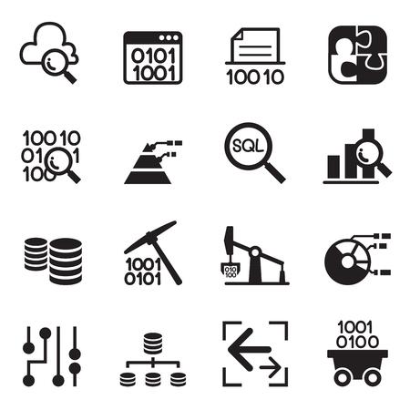Data mining Technology , Data Transfer , Data warehouse , diagram conceptual design icon