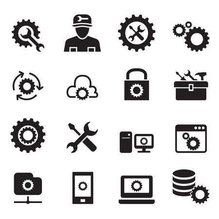 configuration: Setting , configuration , Set up, Repair , Tuning icon set