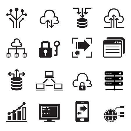 zestaw ikon Technologia Danych