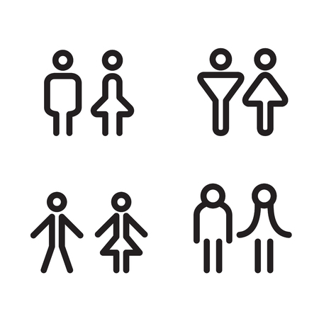 sex symbol: toilet icon great for any use. Vector illustration symbol Illustration