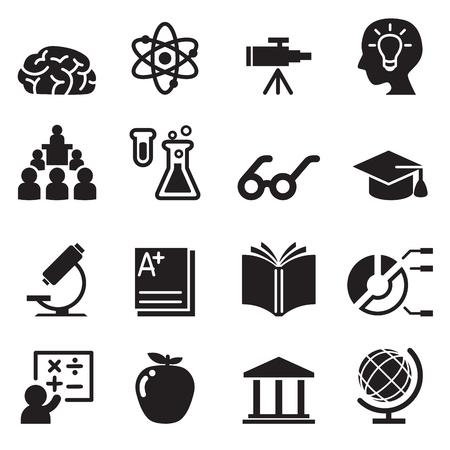 Learning, Smart ,genius icons set  イラスト・ベクター素材