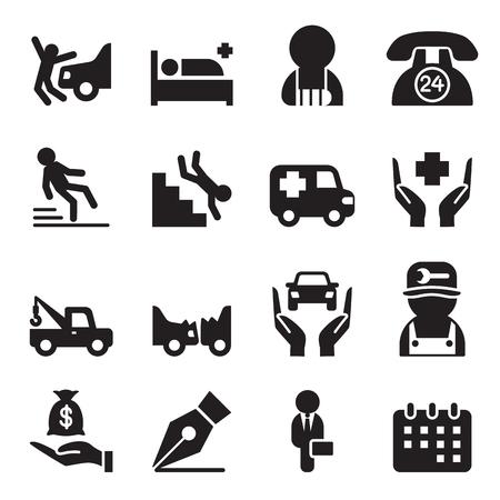recompense: Insurance icons set