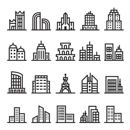 residential zone: building icons