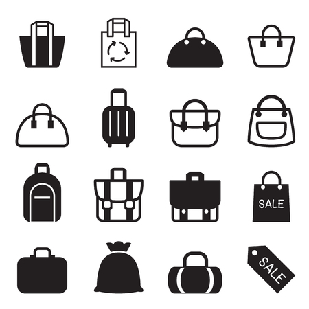 travel bags: Bag icon Illustration