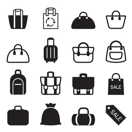 femme valise: Sac icône Illustration