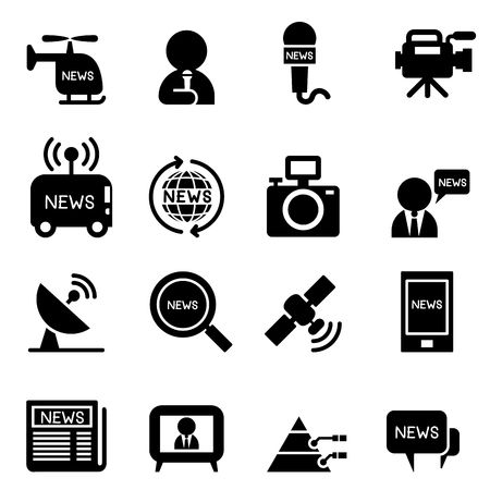 reportero: iconos de reporteros
