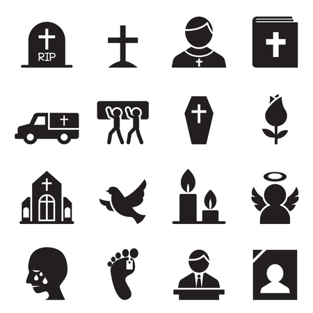 church people: Funeral, Burial icon