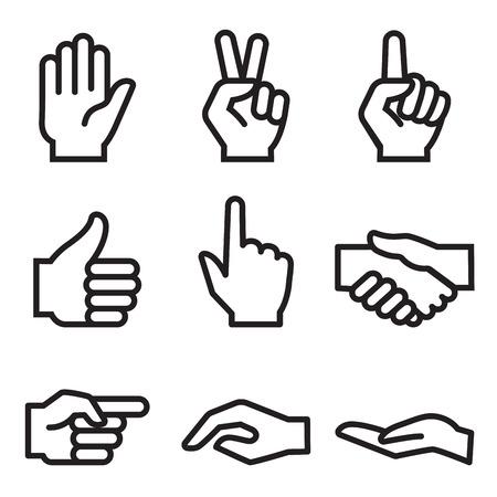 logo handshake: human hand icon