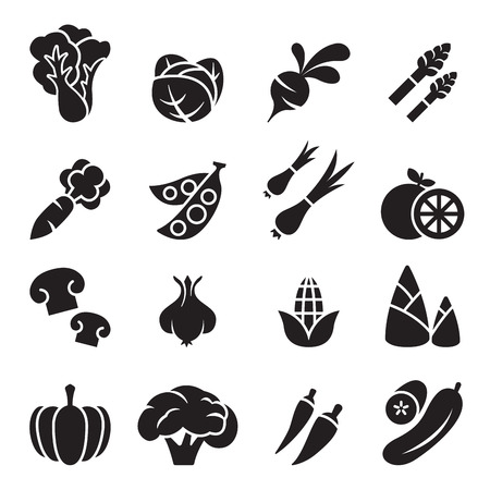 Vegetable icon set 2