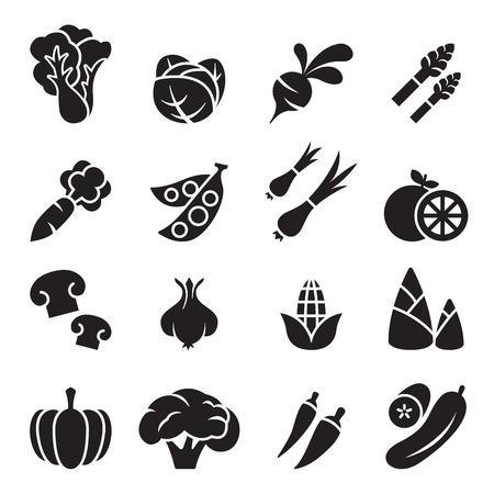 Vegetable icon set 2