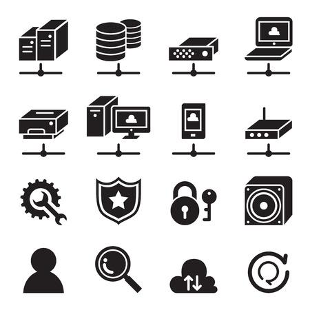 computer network: Computer network icon set Illustration