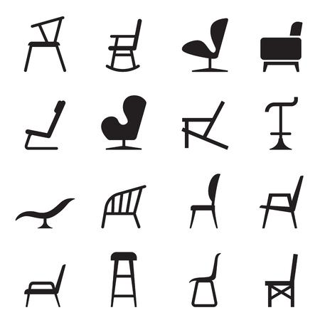 Chair icons  イラスト・ベクター素材