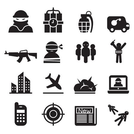 assassin: terrorism , Assassin, killer icons set