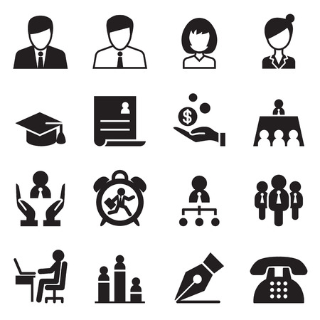 Human resource  Business Management icons set 일러스트