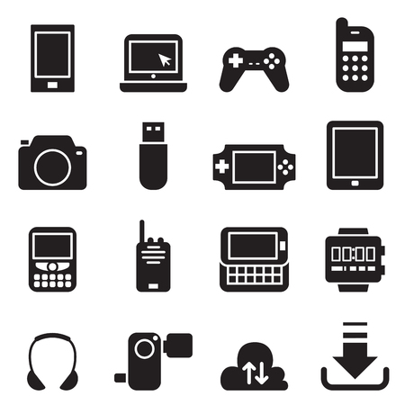 mobile device: Mobile Device icons Set Vector illustration
