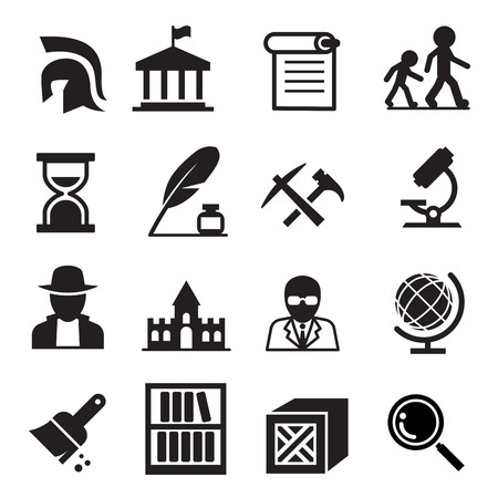 History  archaeology icons