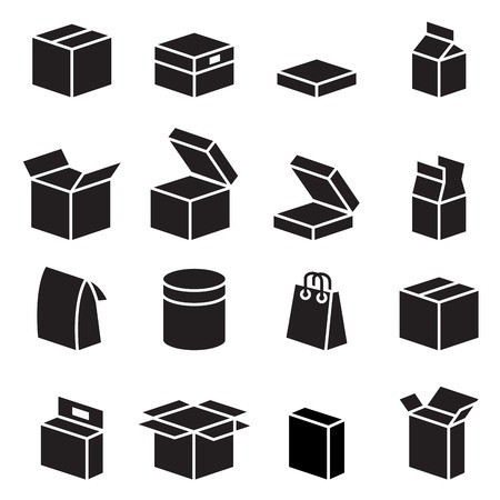 Silhouette box  packaging icon