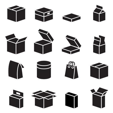 Sylwetka opakowanie box ikony