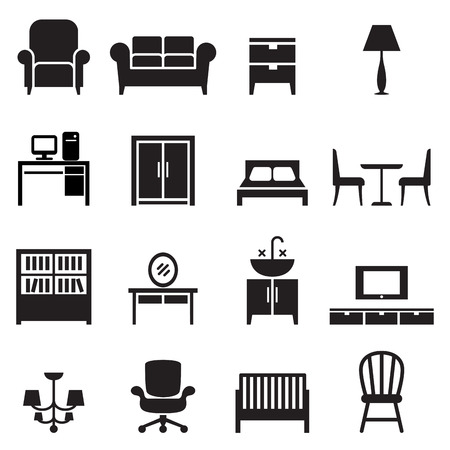 home icon: Furniture icons