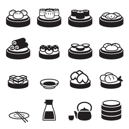 Dim sum  japanese food icons