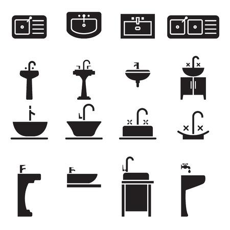 Umywalka zestaw ikon