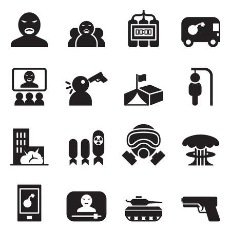 assassin: Terrorist, killer, Assassin  Icons set vector illustration