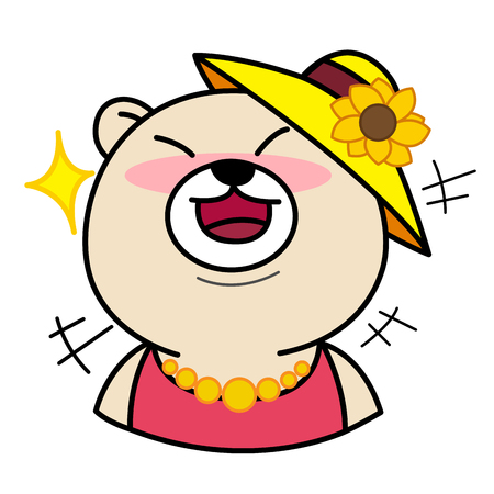 chuckle: Cartoon Cute Bear Laugh illustration Illustration
