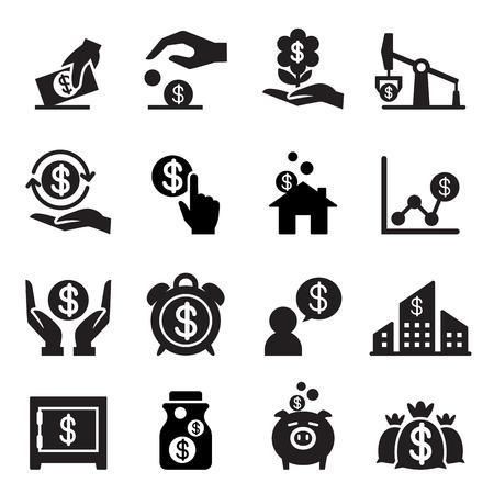 Geld sparen Symbol