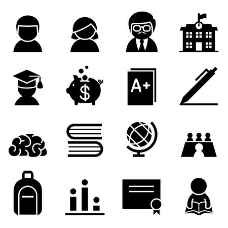 Icono de becas Ilustración de vector