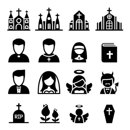 teufel und engel: Kirche Symbol